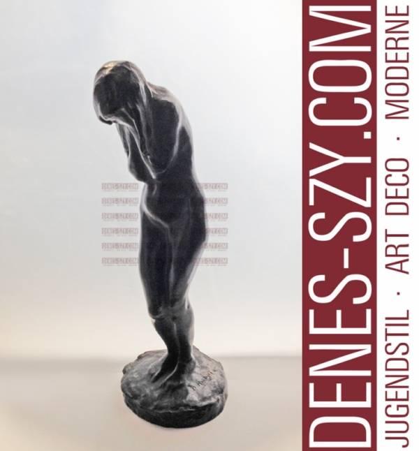 Bernhard Hoetger Paris 1900 Bronce figure, Pleureuse