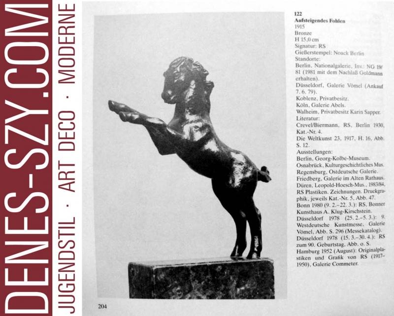 SINTENIS, Renée, Aufsteigendes Fohlen, BRONZE FIGUR 1915