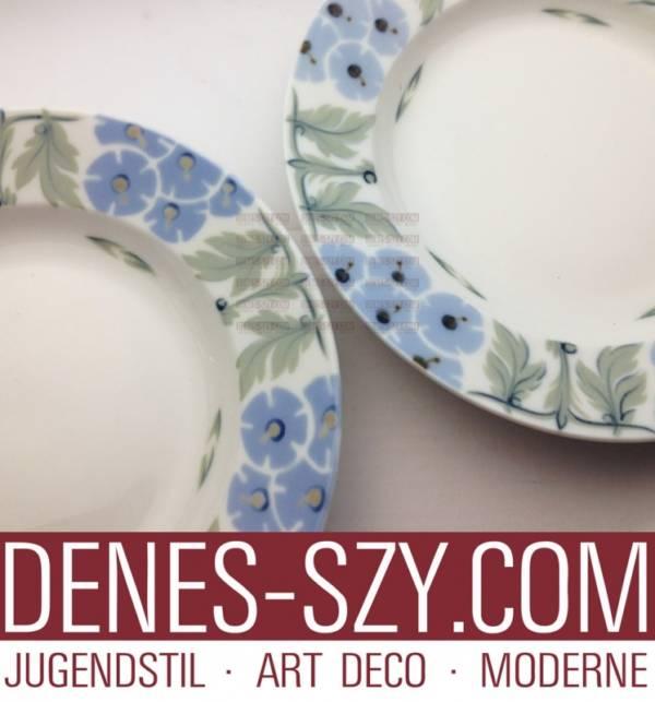 Assiette à Dessert En Porcelaine Art Nouveau motif primevère 1906
