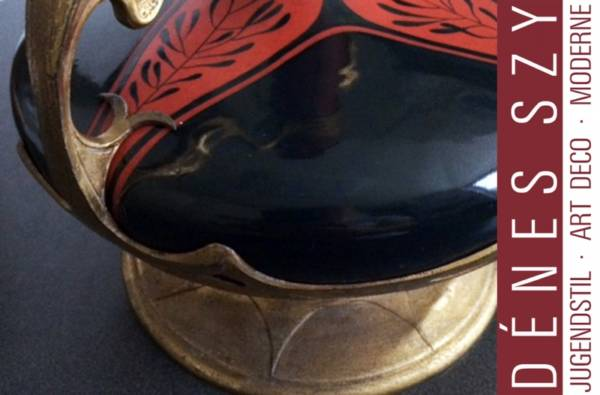 Jugendstil OSIRIS Zinn ZSOLNAY PECS UNGARN Keramik Vase 552