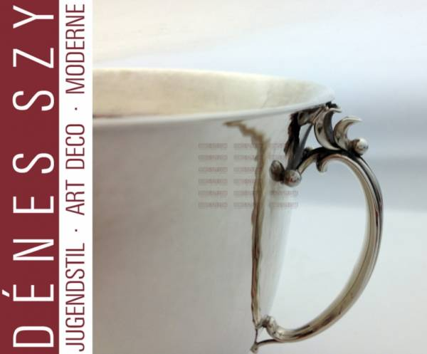 Georg Jensen silver, Harald Nielsen dish, sugar bowl 456 D