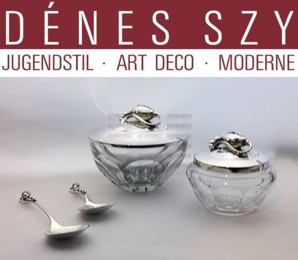 Georg Jensen silver, Blossom pattern #84, preserve spoon