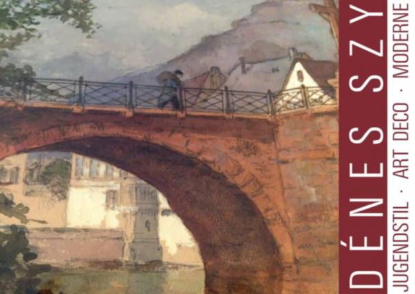 CARL RÜDELL: Bad Kreuznach, Aquarell 1914