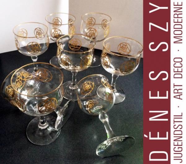 Jugendstil Glas Christiansen Darmstädter Rose