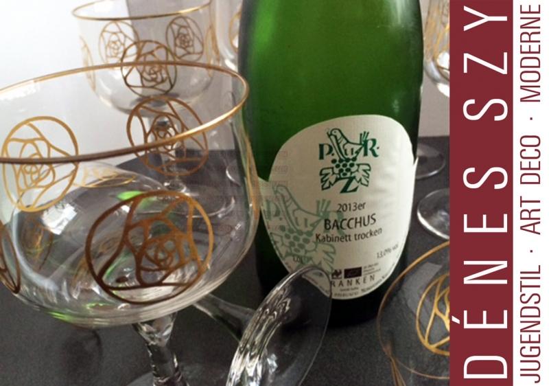 German Art Nouveau wine glass by Hans Christiansen