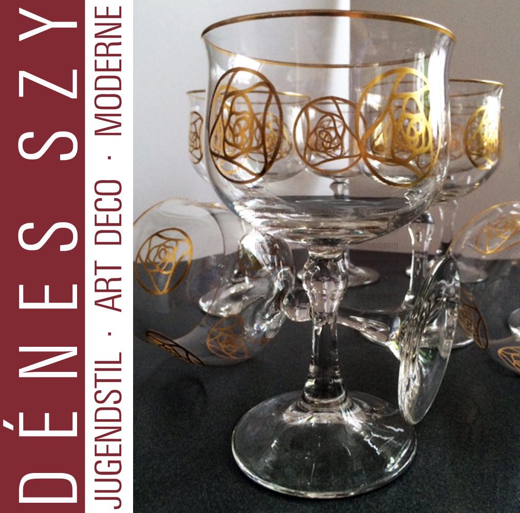 Hans Christiansen, verre Art Nouveau, décoration en verre Rose de Darmstadt