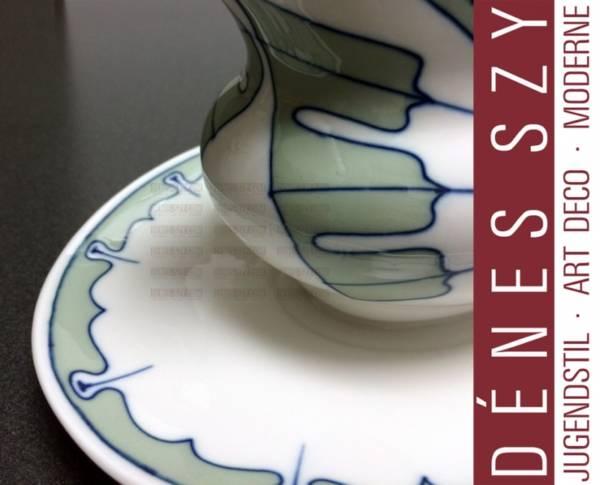 Porcelaine Art Nouveau Meissen, saucière, moyen, Motif ailes par Rudolf Hentschel