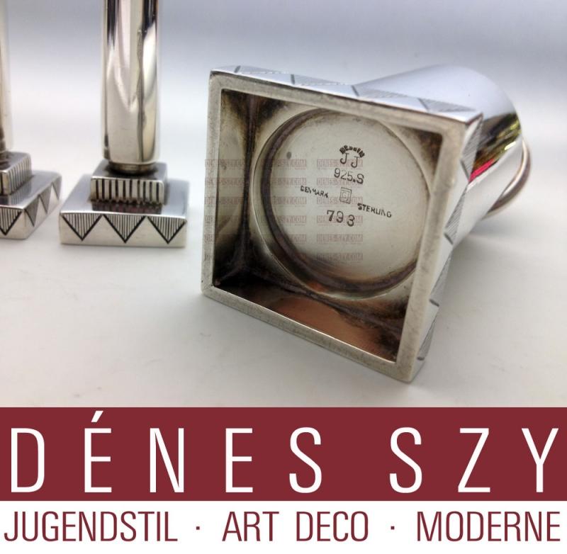 Art Deco Salz Pfefferstreuer paar aus 925 Sterling Silber