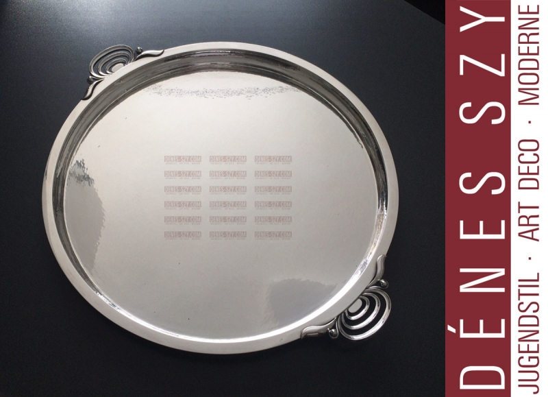 Georg Jensen Silber # 510, XXL Art Deco Tablett rund