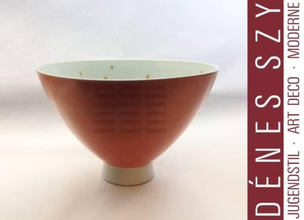 Royal KPM Berlin Porcelain fruit bowl with peacock feather decor