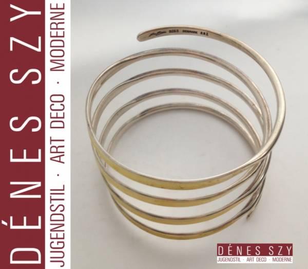 1950er Design Hans Hansen Sterling Silber Armreif # 297 Handmade