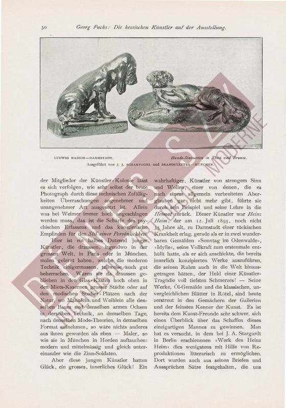 Jugendstil Darmstadt 1900 HABICH Bluthund Welpe Bronze