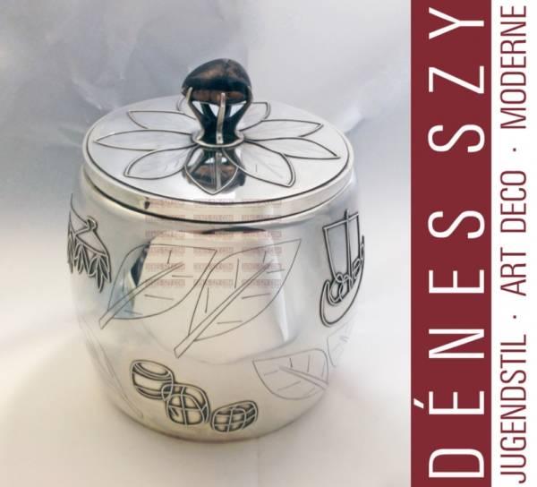 Art Deco große Tabakdose Silber 900 Deutschland um 1920