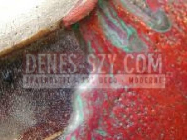 Chapallaz Edouard - Grosse Bodenvase rot glasiert
