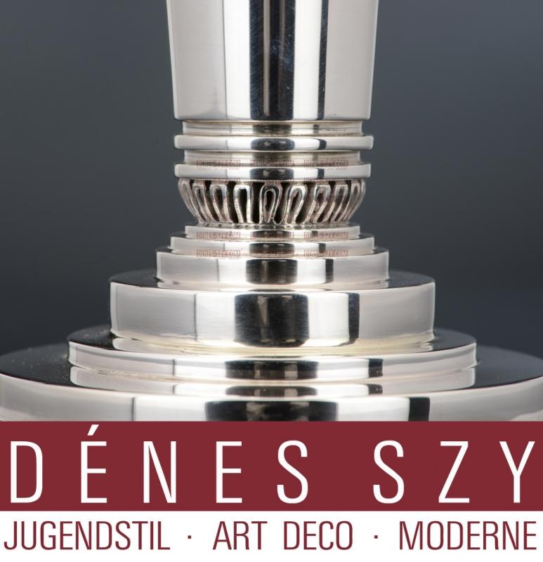 GEORG JENSEN SILBER ART DECO KERZENLEUCHTER #691 B