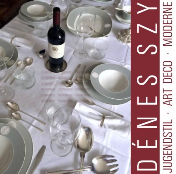 piatto da cena in porcellana di Berlino modello Arkadia versione grigia
