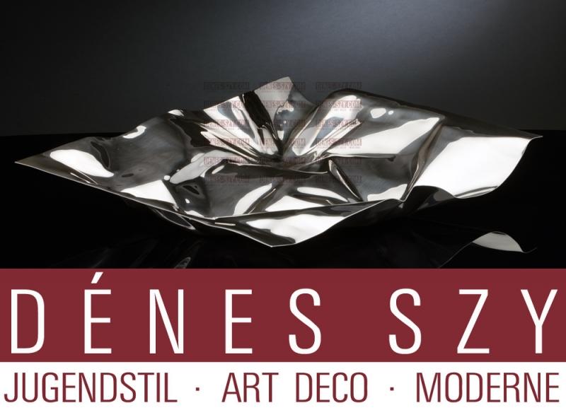 Verner Panton, GEORG JENSEN MODERNIST STERLING XXL Centerpiece Bowl #1302