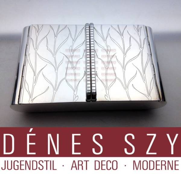 Art Deco, modernist Georg Jensen Sterlingsilber Dose # 867
