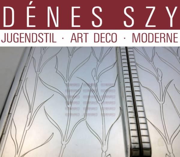 Mid Century Modern Georg Jensen Sterling JJ Art Deco box #867,