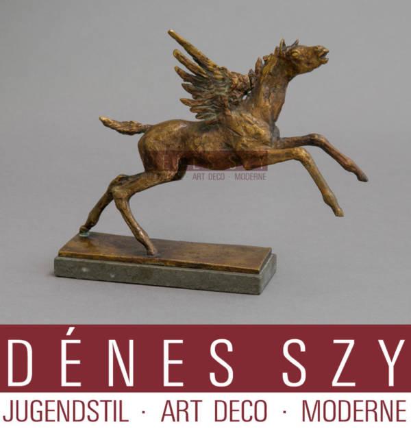 Renée Sintenis Pegasus Bronze Figur, Berlin 1952