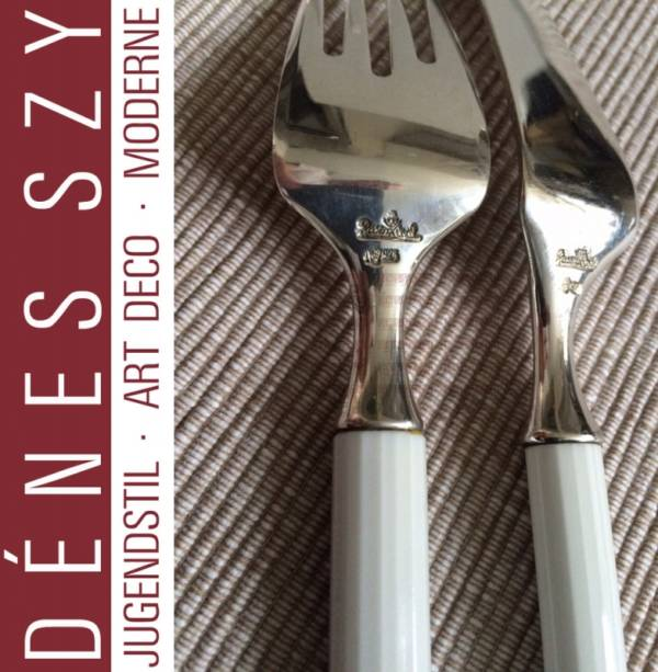 Fish knife and fork, Mid century modern Rosenthal KGH Sterling cutlery