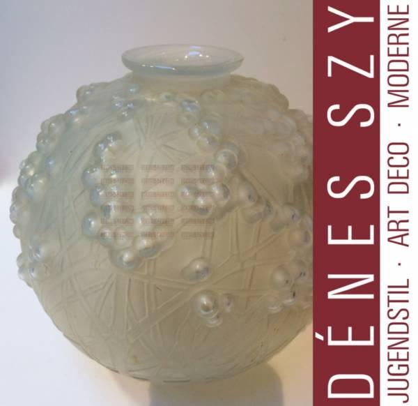 Lalique France Kristallglas Vase DRUIDE 1924 RENE LALIQUE