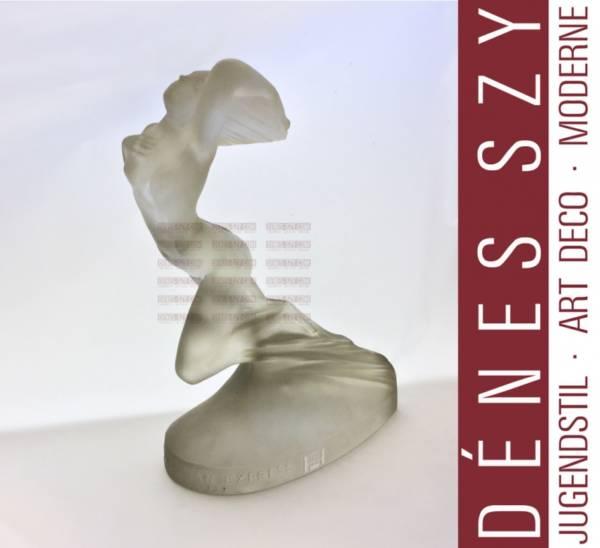 R. Lalique France Pullman Express Trophy glass statuette 1929