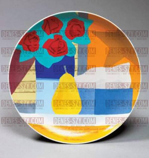 Frozen Tears, Tom Wesselmann (1931-2004), Assiette d'artiste en porcelaine de Rosenthal n ° 21. 1985. (Edition limitée à 3000 pièces / plaque), Edition Rosenthal, série d'art limitée (éditeur)