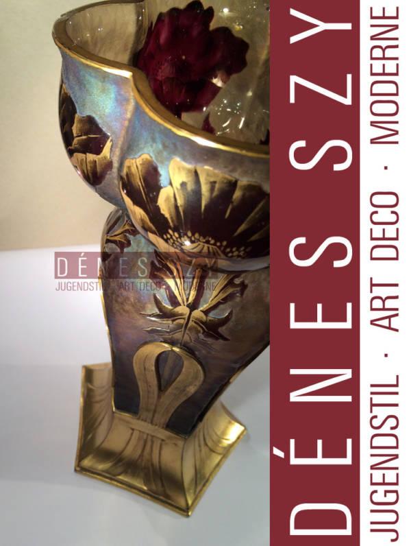 ORIVIT peltro liberty Cologne Vaso di vetro a cammeo 2537