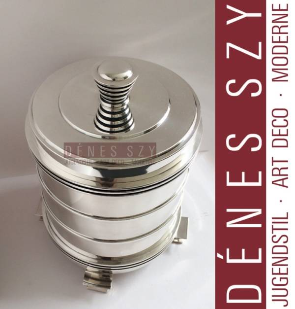 GEORG JENSEN STERLING SILVER ART DECO BOX CANISTER #796 by JJ
