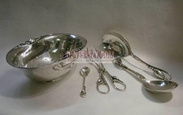 scodella 2, GEORG JENSEN argento massiccio, Design Magnolia, Blossom