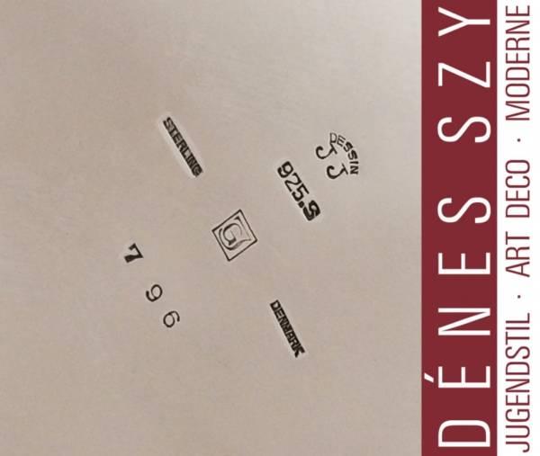 Boite en argent sterling Georg Jensen # 796 de Jorgen Jensen