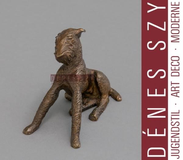 Renée Sintenis bronze figure terrier Oskar Noack Berlin