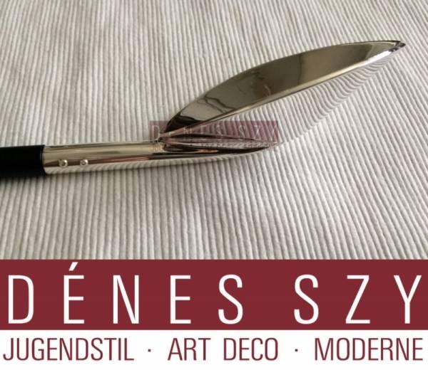 BORIS BALLY Vorleger Design 1992 Sterling Silber Ebenholz, Rhode