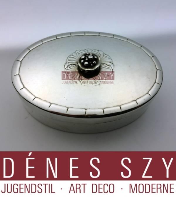 GEORG JENSEN Deckeldose 79 AD Kopenhagen 1933-44 Sterling Silber