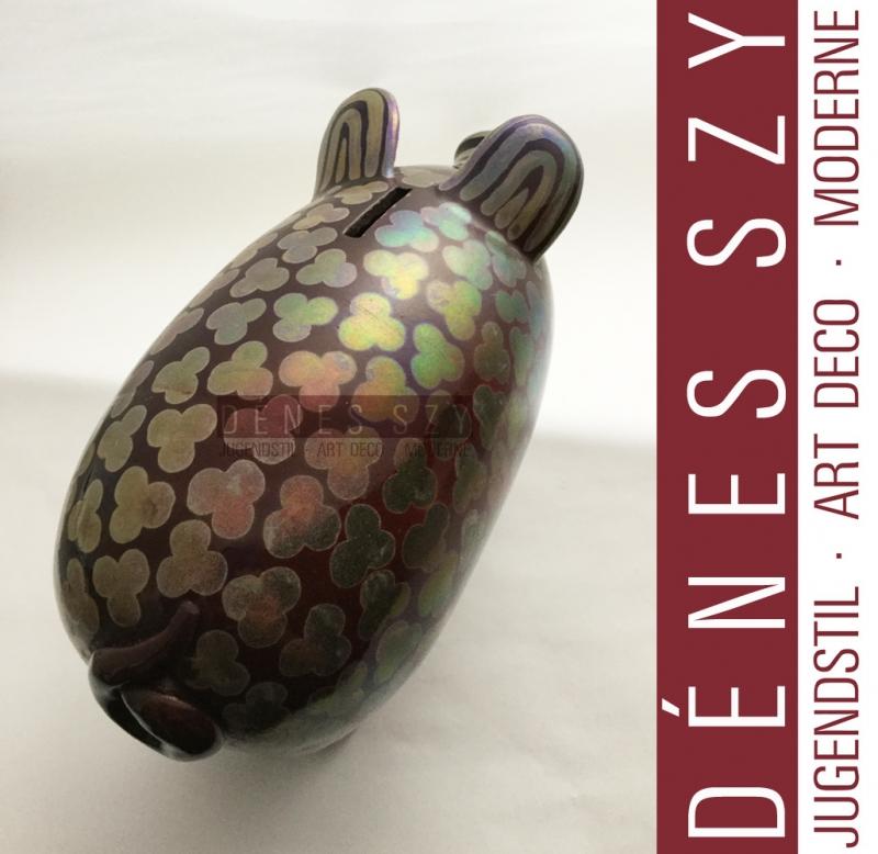 EOZIN Keramik SPARSCHWEIN Vilmos ZSOLNAY Pécs Ungarn 1900