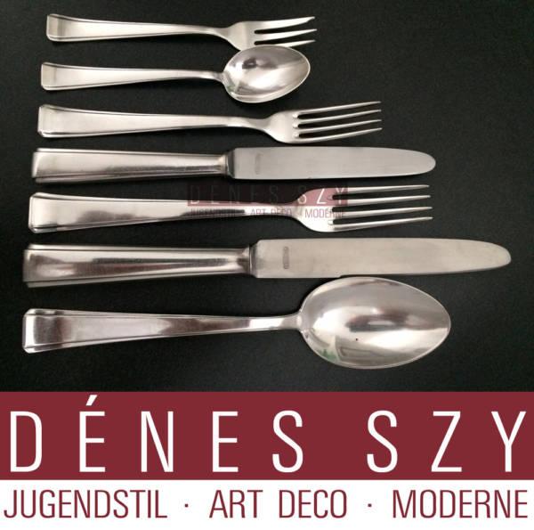 Art Deco Silber Besteck für 12 Personen Lutz Weiss Pforzheim