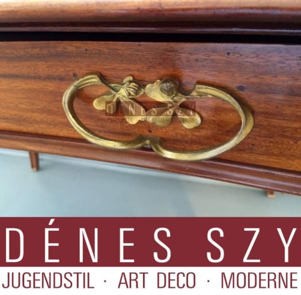 Louis Majorelle, Nancy, Elegant dainty ladies desk with fire-gilded bronze