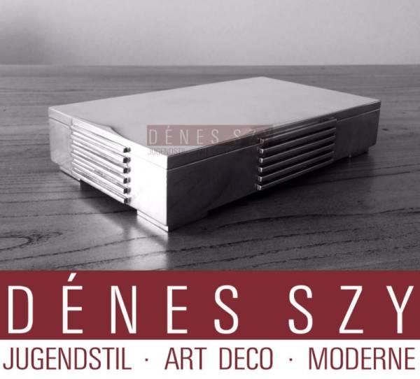 Art Deco Georg Jensen Sterlingsilber XXL Dose # 857 JJ