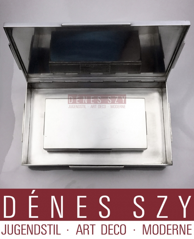 Georg Jensen Sterling Art Deco XXL Box # 857 by Jorgen jensen