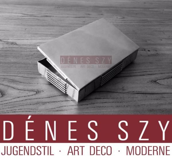 Georg Jensen Sterling Art Deco XXL Box # 857 by Jorgen jensen
