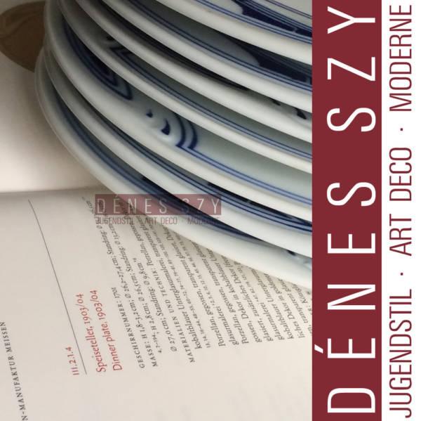 Meissen, Henry van de Velde, Peitschenhieb porcelain plates
