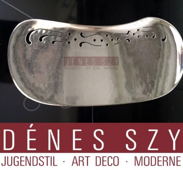 Butterfly pattern Danish Art Nouveau Sterling Cutlery By Frigast  fish server