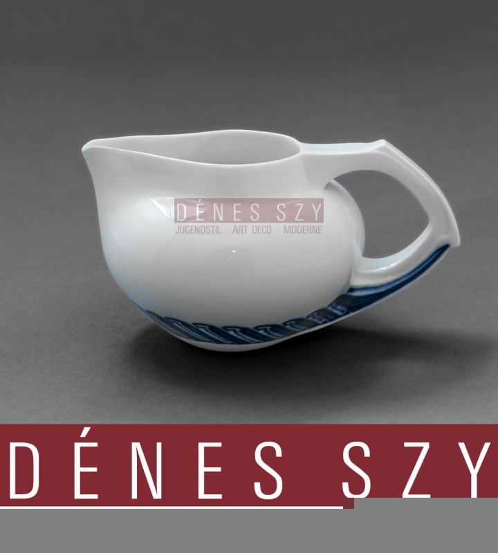 HENRY VAN DE VELDE Art Nouveau china Cream Jug, whiplash pattern, Meissen Germany