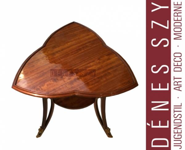Louis Majorelle Nancy, French Art Nouveau mahogany occasional table