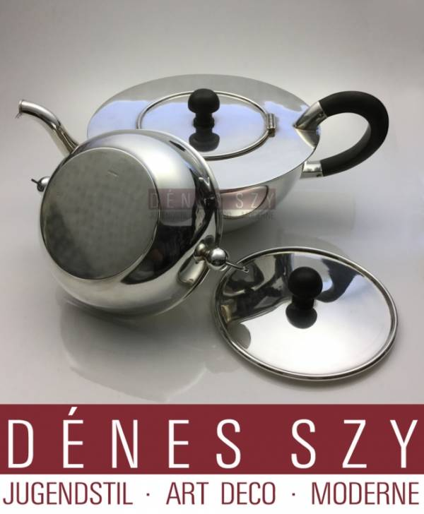 Paula Straus Art Deco Sterling silver tea pot with sugar bowl 13024