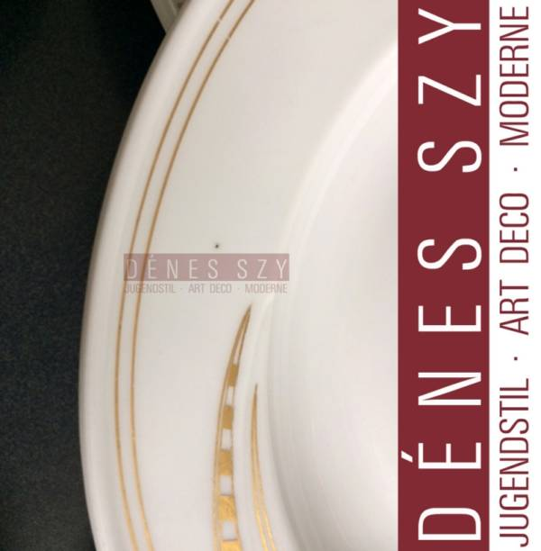 MEISSEN 1900 piatto fondo in porcellana modello frustata