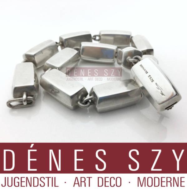 Hans Hansen ART DECO SCHMUCK Sterling Silber Halskette, DENMARK