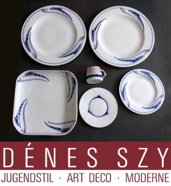 Meissen 1900 porcellana di Henry van de Velde tazza da moca