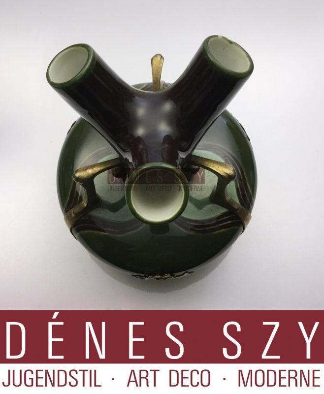 Jugendstil OSIRIS Zinn ZSOLNAY PECS  Keramik Vase 520